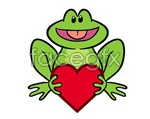 Link toHolding frog vector