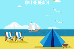 Link toHoliday beach scenery vector