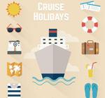 Link toHoliday cruise ship icon vector