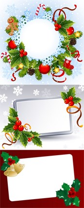 Link toHoliday decorations box vector graphics