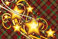 Link toHoliday decorations of gold stars and cloth background vector