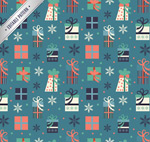 Link toHoliday gift box seamless background vector