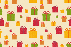 Link toHoliday gift box vector seamless background