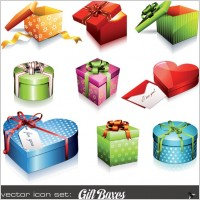 Link toHoliday gift icon vector
