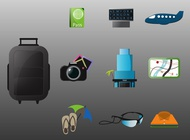 Link toHoliday icons vector free