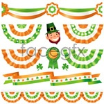 Link toHoliday ribbon layout vector