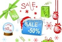 Link toHoliday sales icon vector graphics