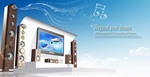 Link toHome theater appliances poster psd