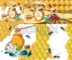 Link toHoney and bees vector
