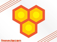 Honeycomb logo vector free