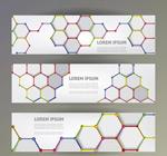 Honeycomb texture banner vector