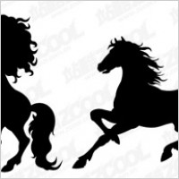 Link toHorse silhouette vector material-2