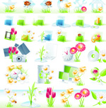 Link toHorticultural icons vector