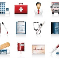 Link toHospital icons vector