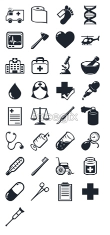 Link toHospital medical equipment icons