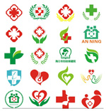 Link toHospitals sign collection vector