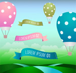Link toHot-air balloon banner vector