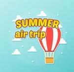 Link toHot air balloon trip clipart vector