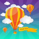 Link toHot-air balloons background vector