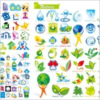 Link toHouse with ecological theme icon vector