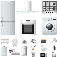 Link toHousehold appliances icons vector