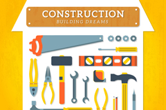 Household tools design vector