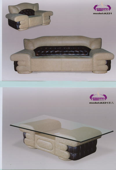 Link toHousehold white sofa and coffee table 3d model