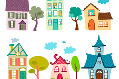 Link toHousing 6 cute cartoon vector