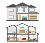 Housing profile vector
