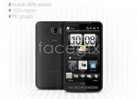 Link toHtc hd2 smartphone vector