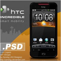 Link toHtc incredible smartphone psd