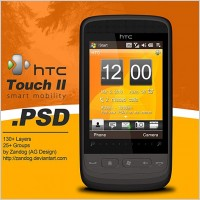 Link toHtc touch 2 smartphone psd