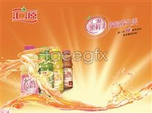 Link toHuiyuan fruit is delicious fruity drink design psd