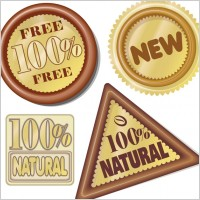 Link toHundred percent natural icon vector