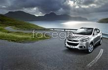 Link toHyundai ix35 auto advertising psd
