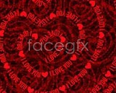 Link toI love you love heart-shaped vector background