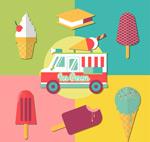 Link toIce cream truck clip art vector