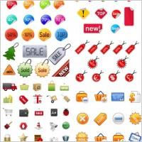 Link toIcon go shopping articles vector