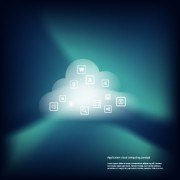 Link toIcons and cloud background vector 02