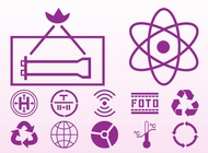 Icons and signs vector free