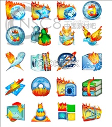 Link toIcy flames desktop icons