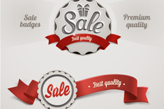 Link toIdea ribbon coat of arms sale tag vector