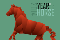 Link toIdea ribbon horse vector