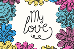 Link toIdeas i love the floral background vector
