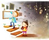 Link toIllustrated children's cartoon psd