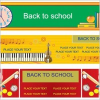 Link toIllustration style of education theme vector banner design templates 3