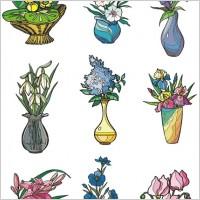 Link toIllustrator vector 2 flower style