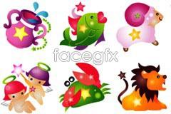 Link toImage of cute cartoon 12 constellation vector