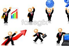 Link toImages of interesting business people icon vector