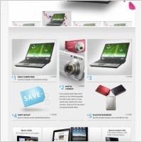 Link toImitation sony sony website pages template psd layered